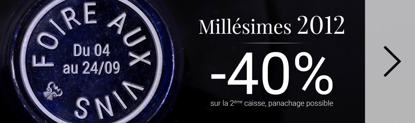 -40% sur la 2ème caisse du millésime 2012