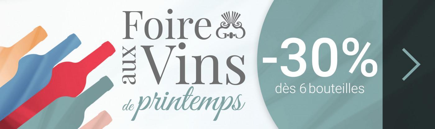 Foire aux Vins de Printemps -40% dès 12 bouteilles