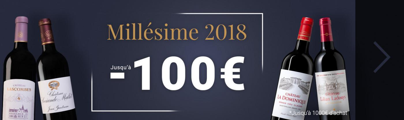 Millésime 2018 jusqu'à -100€