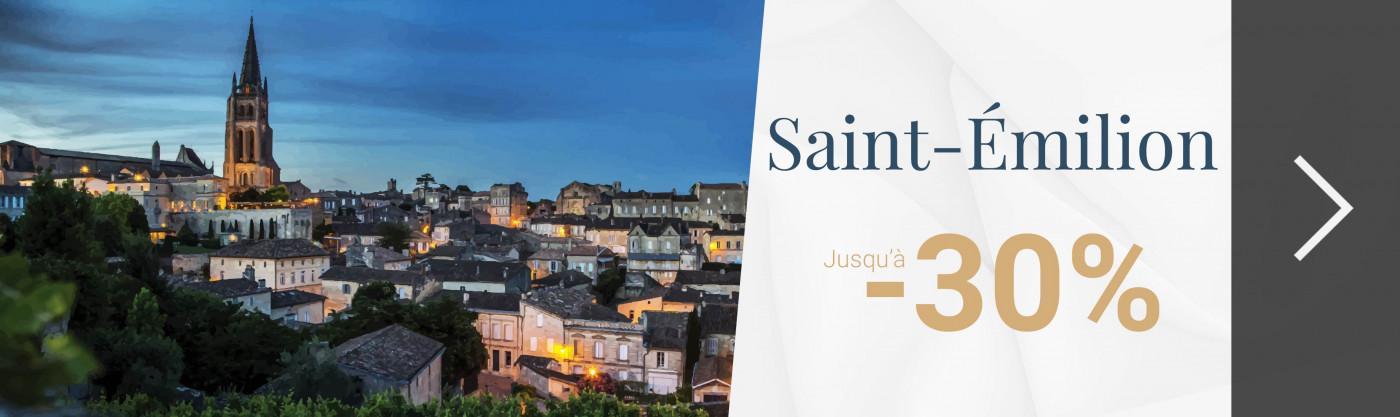 Saint-Émilion : jusqu'à -30%