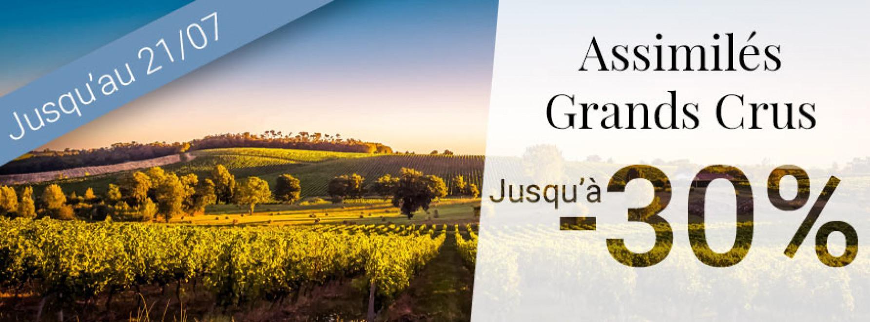 -30% sur les vins assimilés Grands Crus