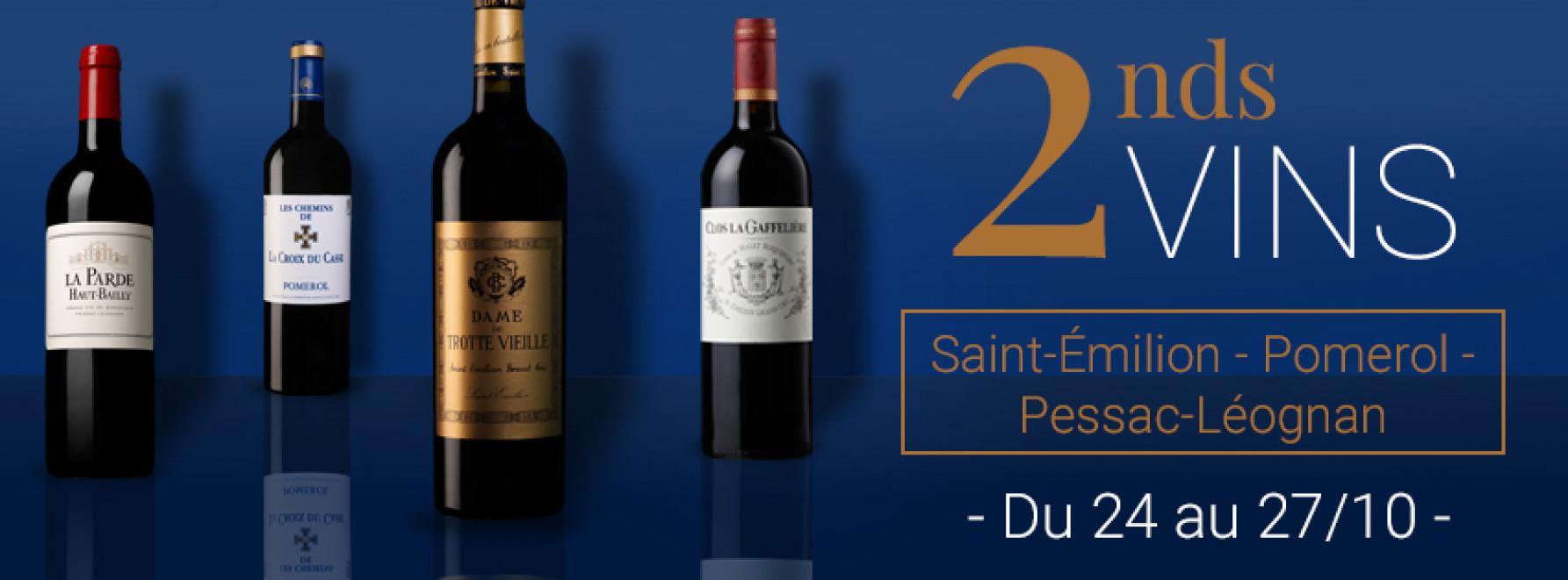 2nd vins Saint-Emilion, Pessac-Léognan, Pomerol