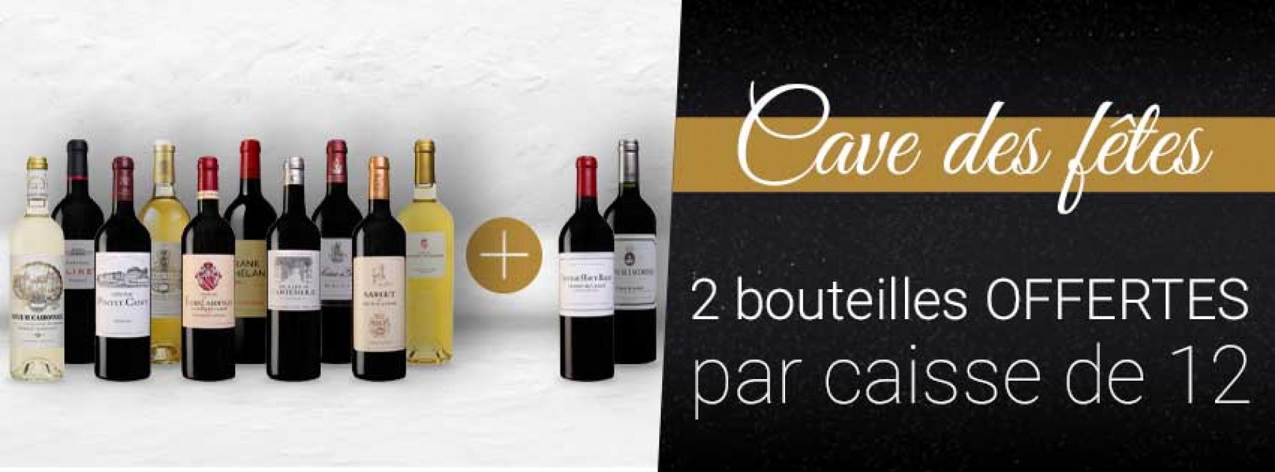 Cave des Fêtes : 10 + 2 bouteilles OFFERTES
