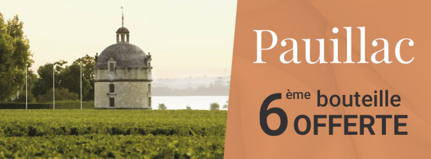 Vins de Pauillac = 6ème bouteille OFFERTE