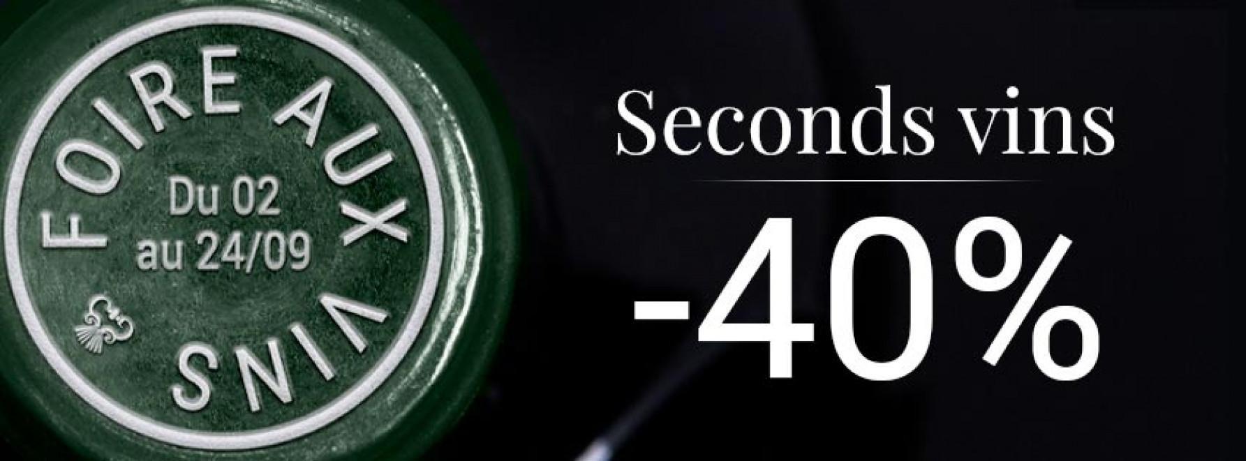 Foire aux Vins : Seconds Vins à -40%