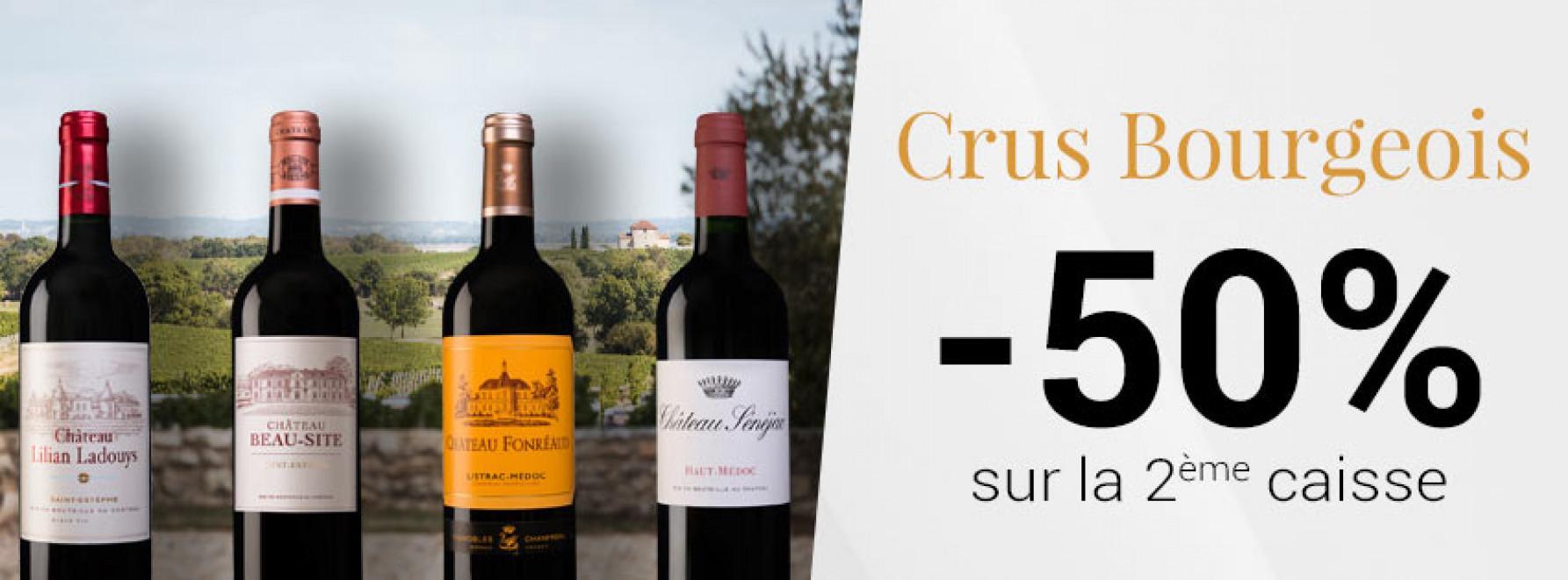 Crus Bourgeois | -50% sur la 2ème caisse