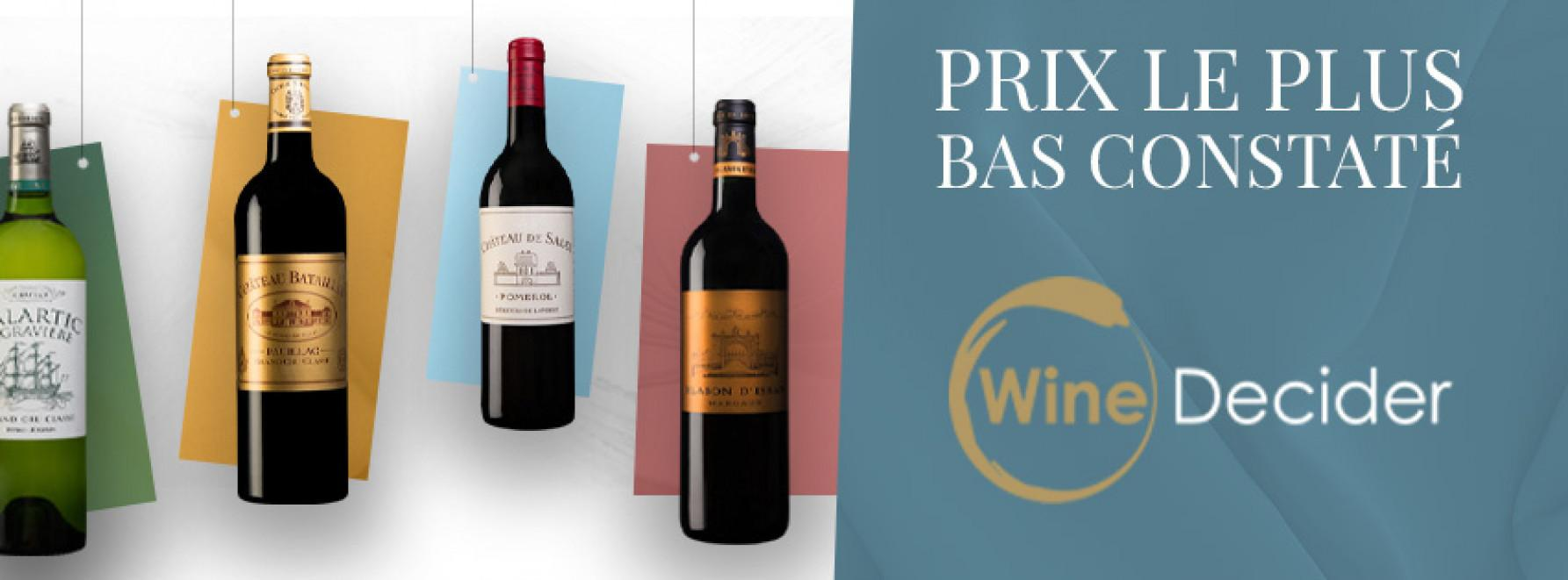 Prix les plus bas constatés sur WineDecider