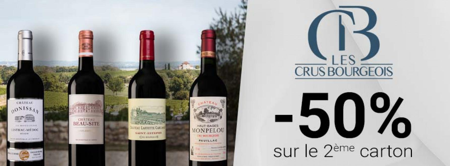 Crus Bourgeois | -50% sur le 2ème carton