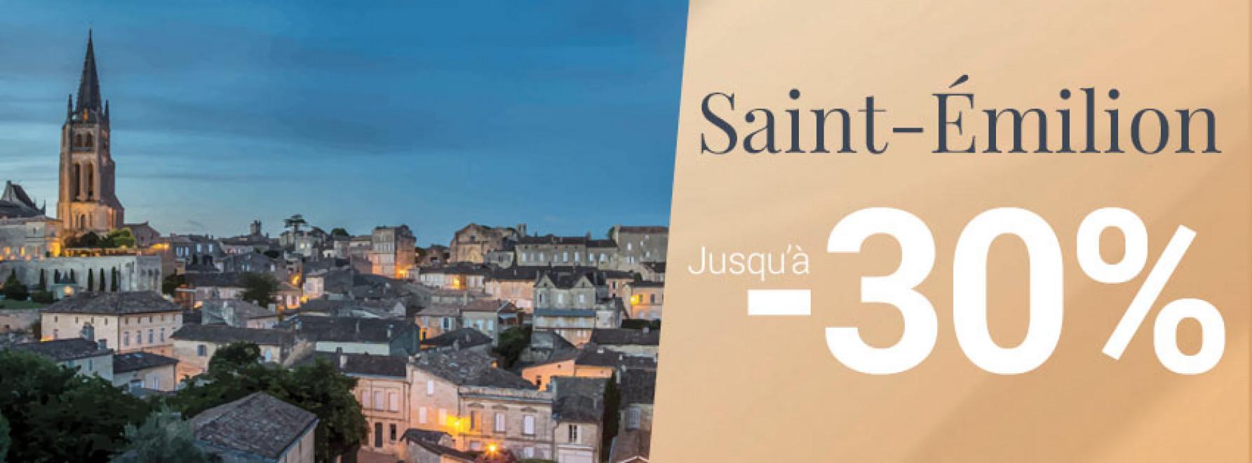 Cap sur Saint-Émilion | Jusqu'à -30%