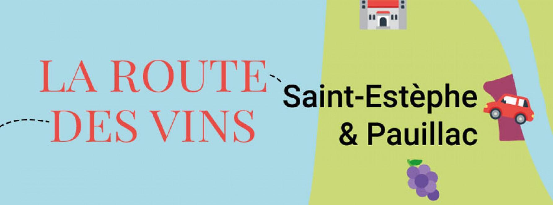 La route des vins : direction Pauillac et Saint-Estèphe