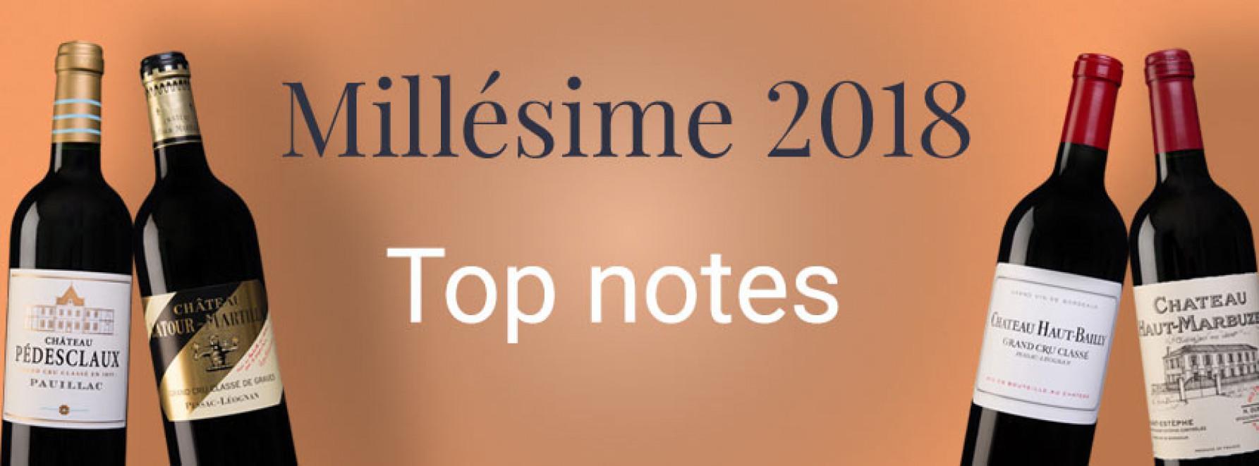 Millésime 2018 | Top notes