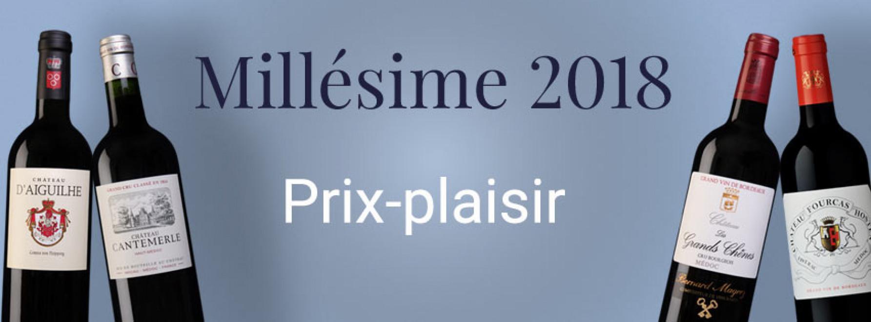 Millésime 2018 | Prix-plaisir