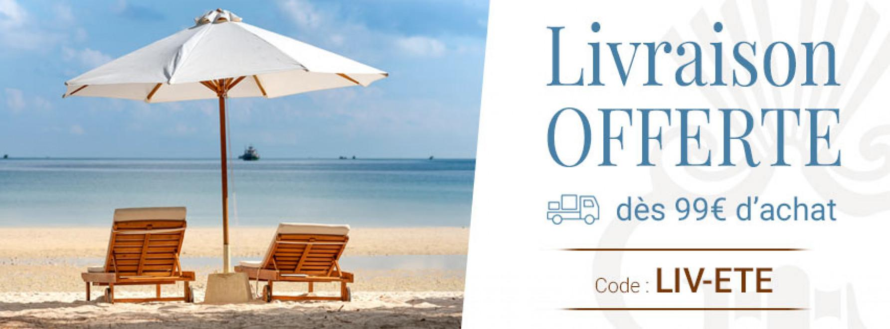 Livré gratuitement chez vous ou sur votre lieu de vacances