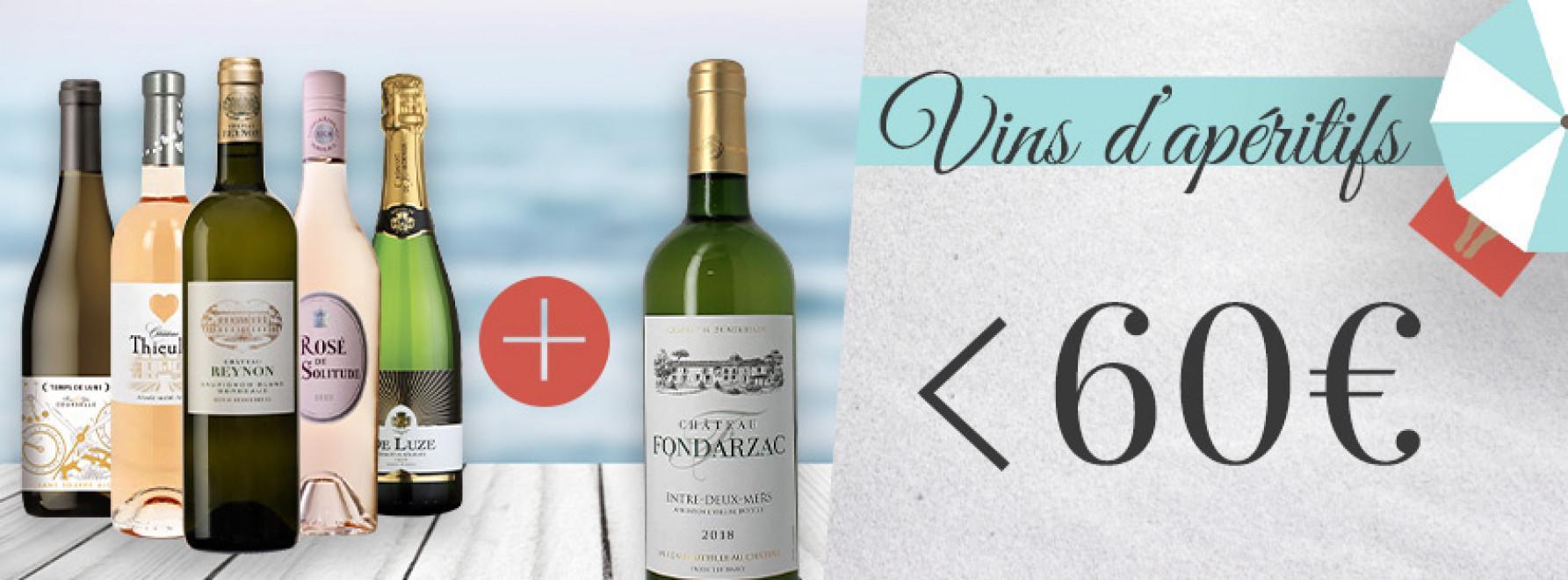 Collection vins d'apéritif <60€ grâce à la 6ème bouteille offerte