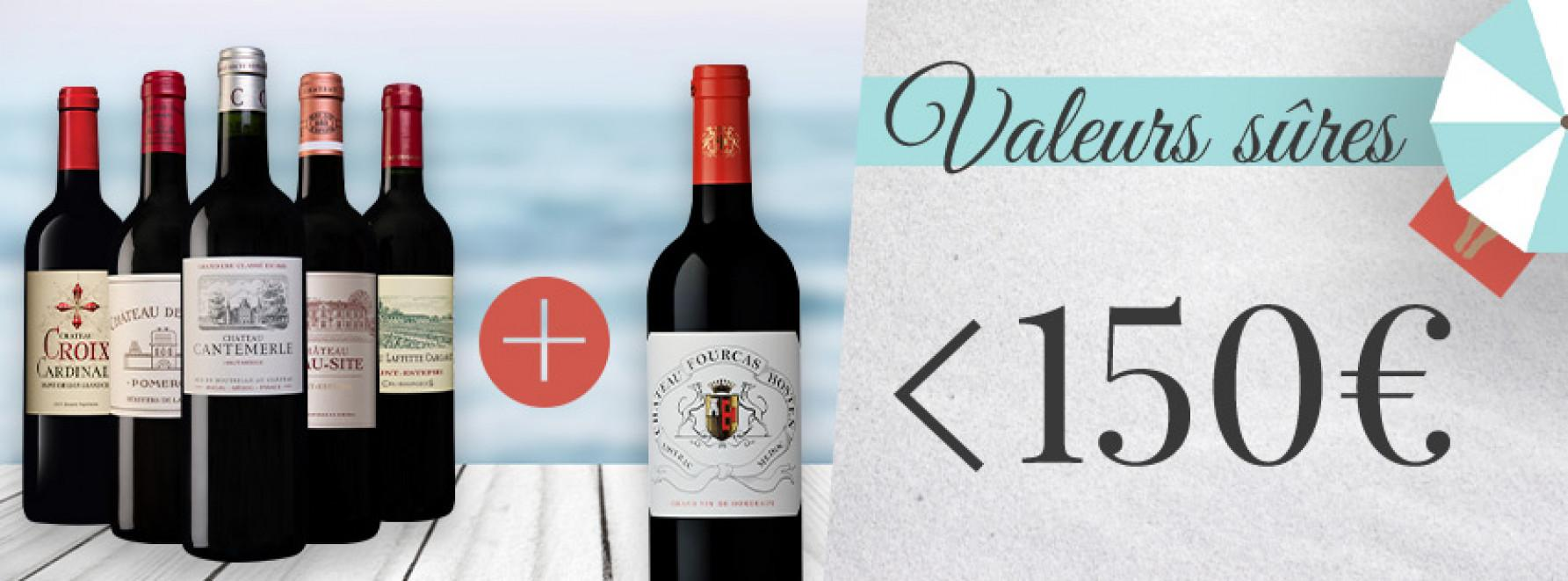 Collection valeurs sûres <150€ grâce à la 6ème bouteille offerte