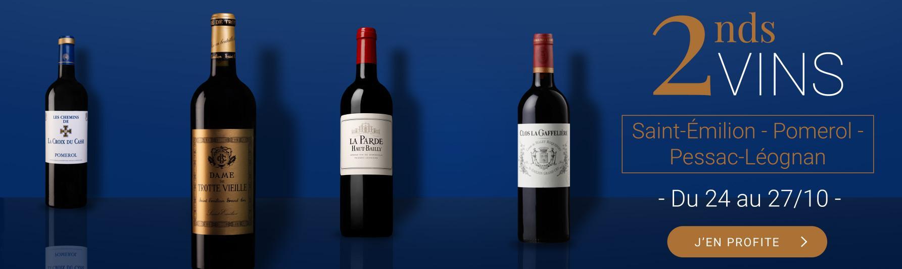 2nds vins Saint-Emilion, Pessac-Léognan, Pomerol