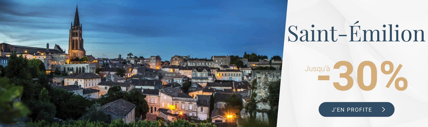 Saint-Émilion jusqu'à -30%