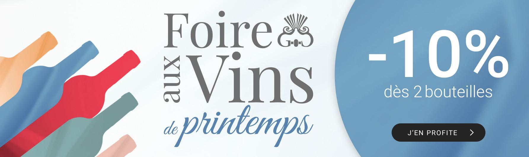 Foire aux vins de printemps par 2 = -10%