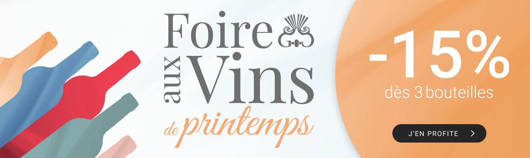 Foire aux vins de printemps par 3 = -15%