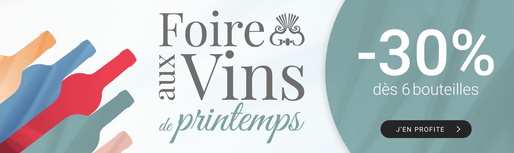 Foire aux vins de printemps par 6 = -30%