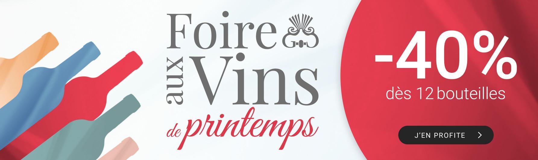 Foire aux vins de printemps par 12 = -40%