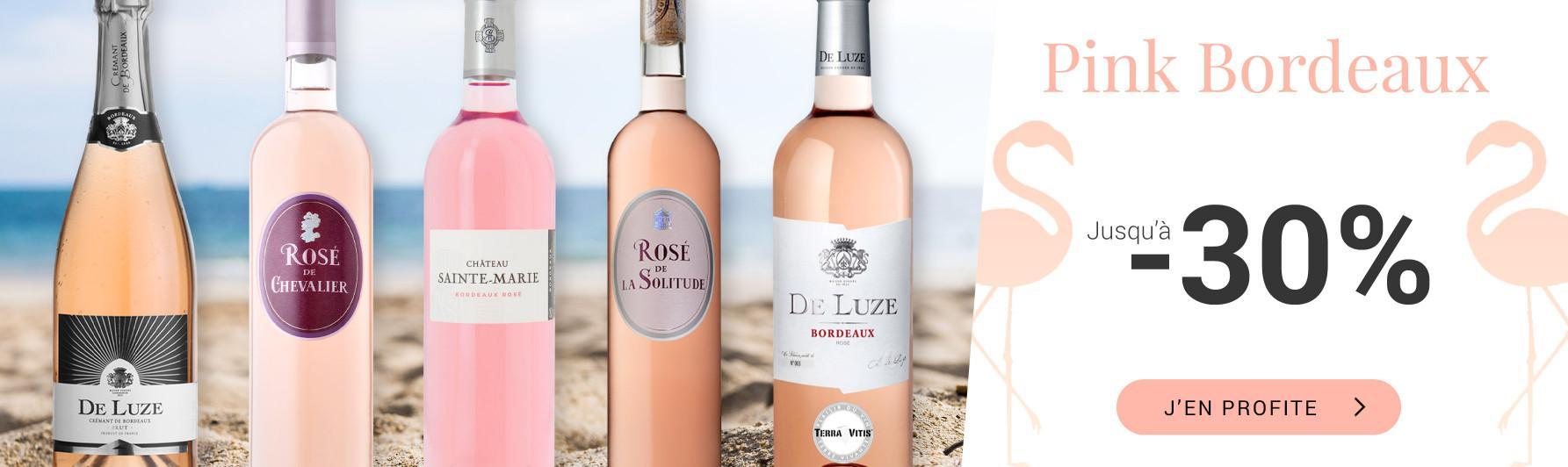 Pink Bordeaux : jusqu'à -30%