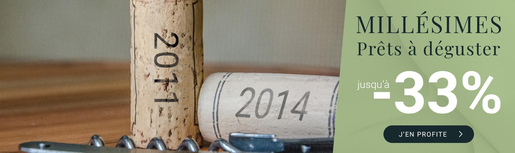 Prêts à déguster | Millésimes 2011 à 2014