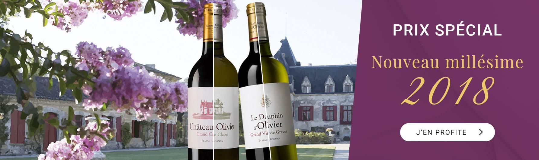 Château Olivier 2018 à prix spécial