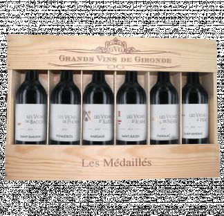 """Coffret """"Les Vignes"""" Médaillés - 6 Appellations de Bordeaux"""