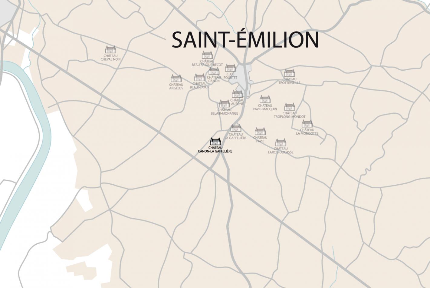 Carte Château Canon-La Gaffelière