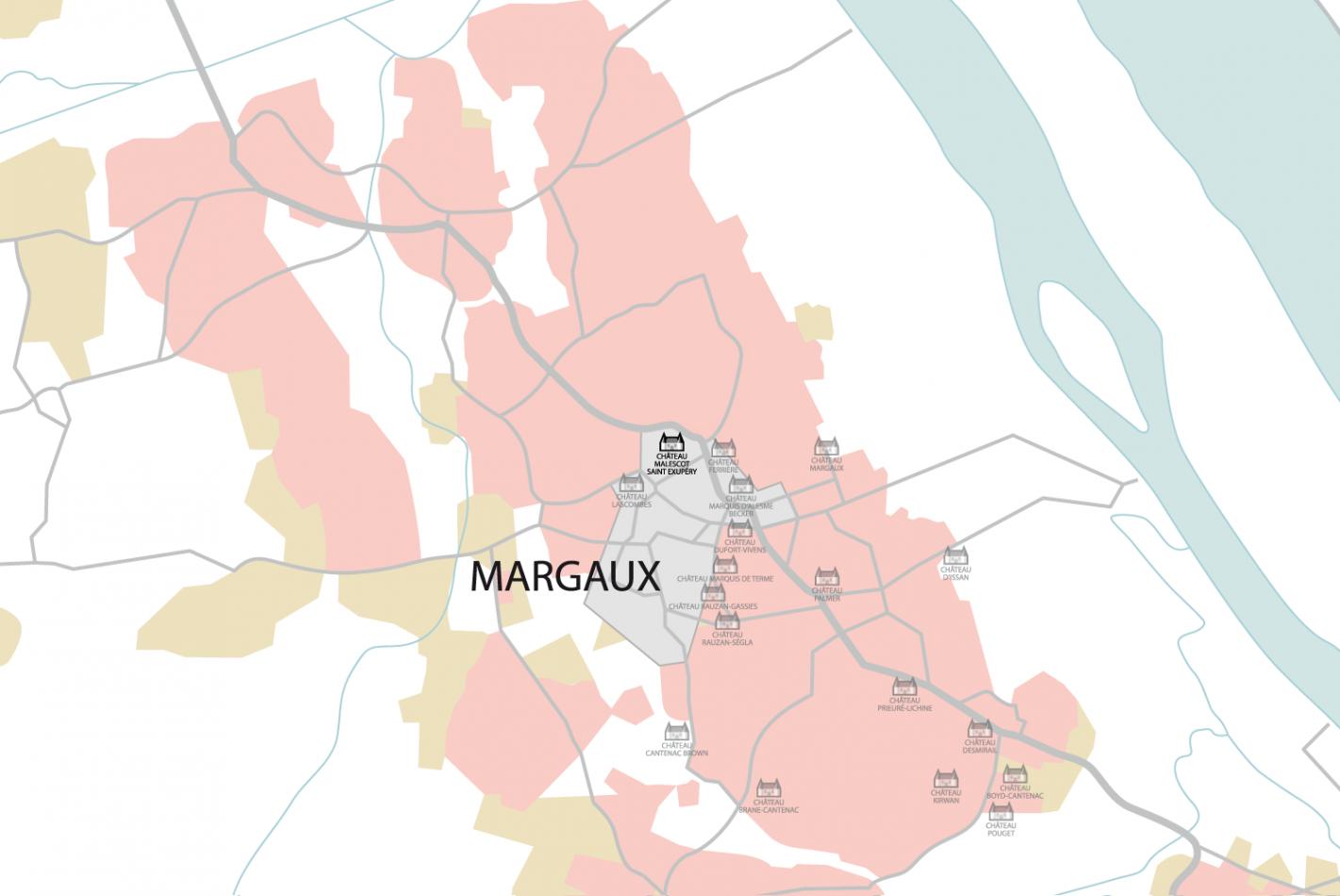 Carte Château Malescot Saint Exupéry