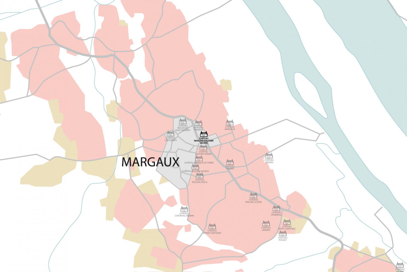 Carte Château Marquis d'Alesme