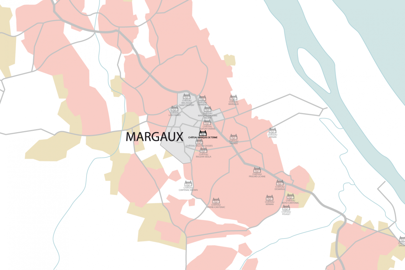 Carte Château Marquis de Terme