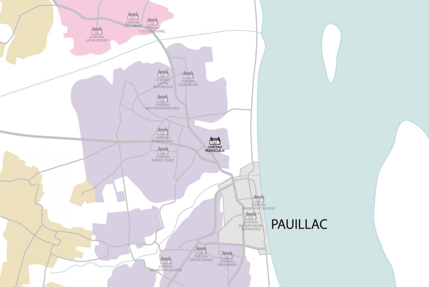Carte Château Pédesclaux