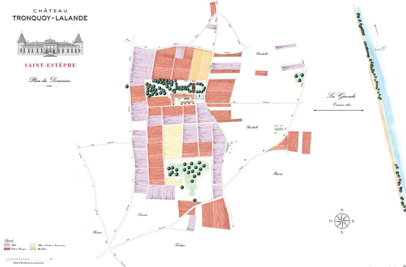 Carte Château Tronquoy-Lalande