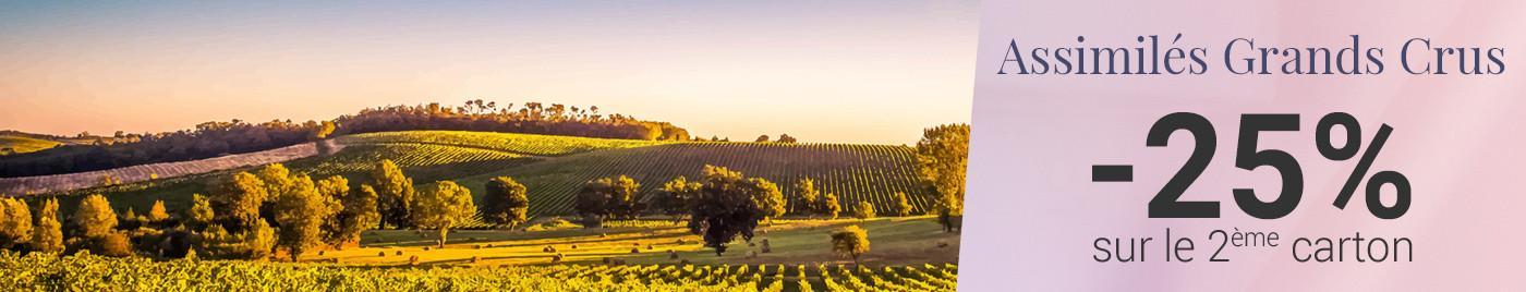 """""""Assimilés"""" Grands Crus, ces grands vins reconnus par leurs pairs comme des classés = -25% sur le 2ème carton"""
