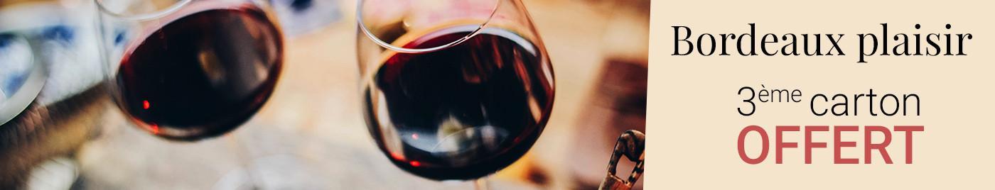 Bordeaux plaisir = 3ème carton offert au choix