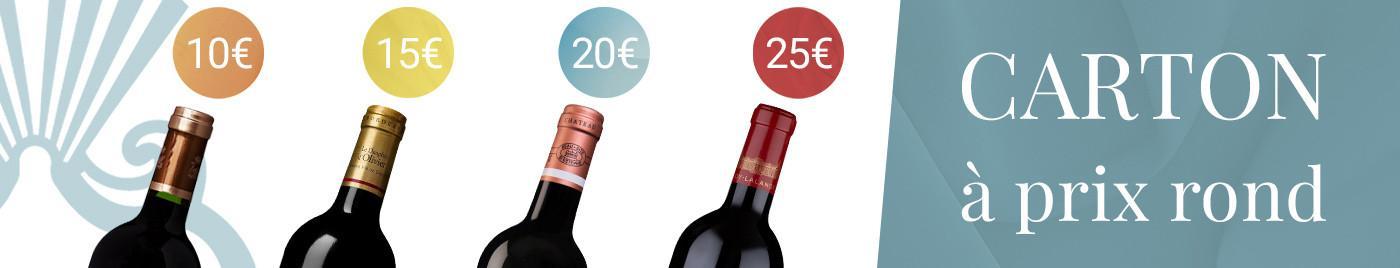 Carton de 6 à prix rond = 10€ - 15€ - 20€ - 25€