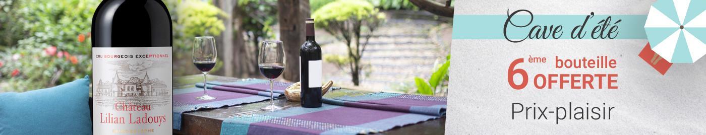 Cave d'été 2021 | Vins de 15 à 25€ = 6ème bouteille la moins chère OFFERTE