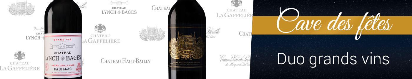 Cave des Fêtes 2020 : Duo de Grands Vins =  -30% sur la 2ème bouteille au choix