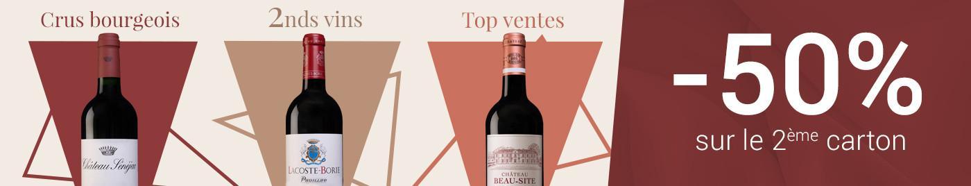 Cru Bourgeois, Seconds vins, Top Ventes = 2ème carton à -50%