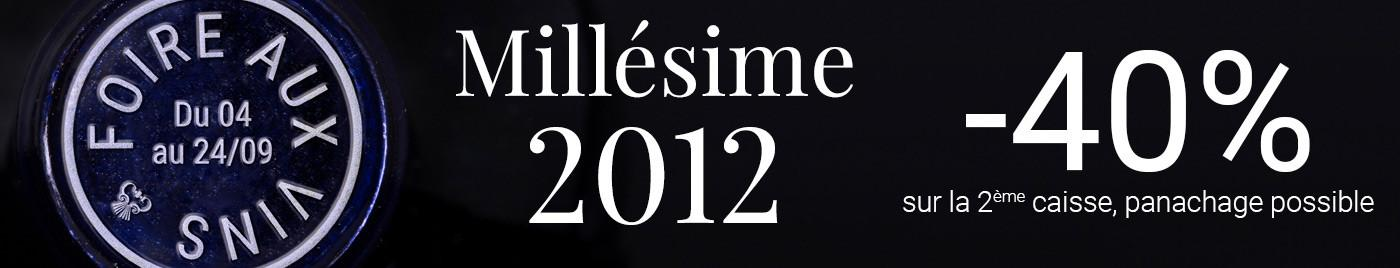 Foire aux Vins d'Automne 2019 - Spéciale millésime 2012