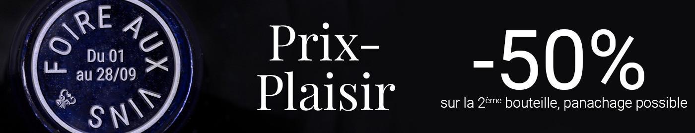 """Foire aux Vins   """"Prix-plaisir"""" à -50% sur la 2ème bouteille (la moins chère)"""