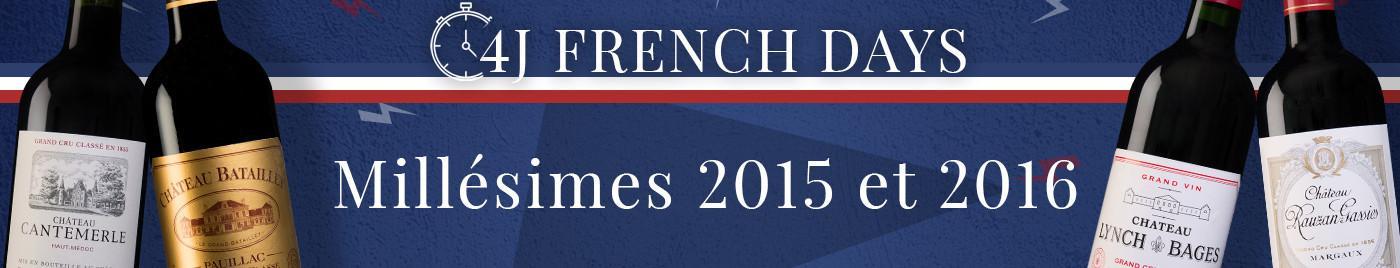 French Days de rentrée     Millésimes 2015 et 2016