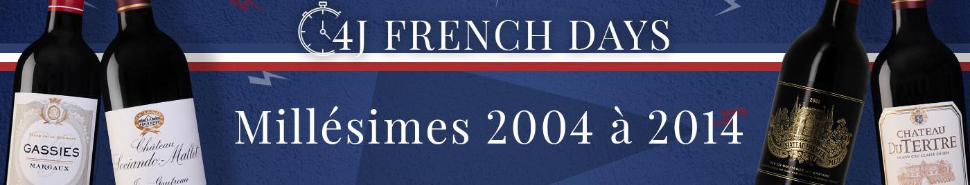 French Days de rentrée  |  Millésimes décalés de 2004 à 2014