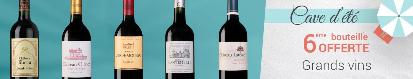 Grands vins de Bordeaux = 6ème bouteille OFFERTE