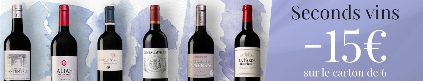 Initiation aux seconds vins -15€ sur le carton de 6 bouteilles