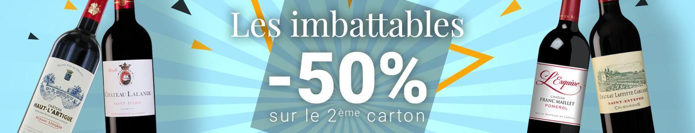 IMBATTABLE d'été = -50% sur le 2ème carton (le moins cher)