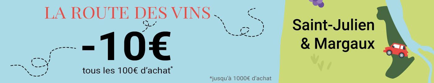 La route des vins ---> direction Margaux et Saint-Julien