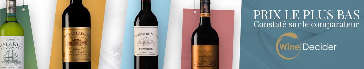 Meilleur prix selon WineDecider - Sélection octobre 2020